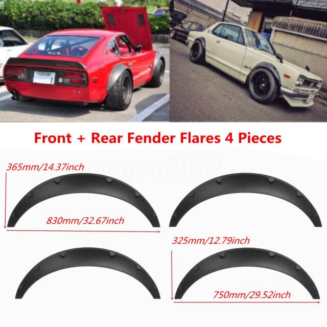 Carbon Fiber Style Car Fender Flares 4 Pieces Flexible Yet Durable Polyurethane