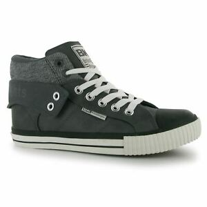 British-Knights-Roco-Fold-Trainers-Mens-Gris-Oscuro-Negro-Informal-Tenis-Zapatos