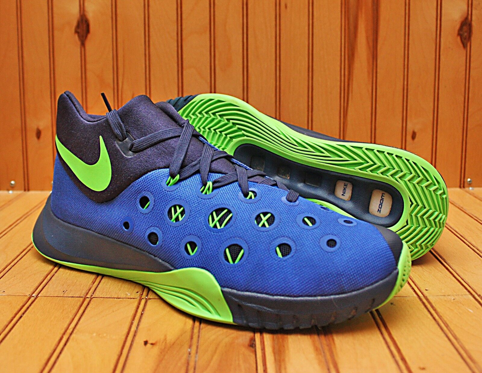 Nike zoom hyperquickness 2015 taglia 10 - royal royal - blue navy verde sprite - 749882 434 28e6e8
