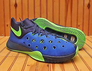 6baf408d58e77 Nike Zoom HyperQuickness 2015 Size 10 -Royal Blue Navy Green Sprite ...