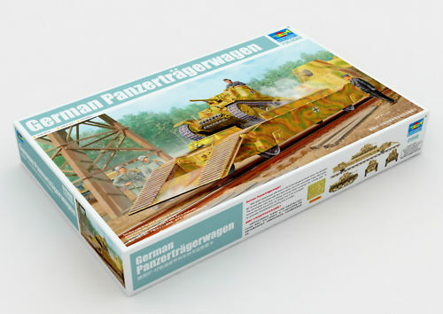 Trumpeter 01508 1 1 1 35 Model BP-2 Railway Panzer Tank Transporter Train Panzer 6ccfcd