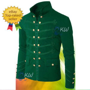 Men/'s Red Unique Modern Red Embroidery Red Military Napoleon Hook Jacket