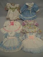 """6 Pieces 15"""" Doll Clothes Dresses Ruffles Lace Ribbons Bows"""