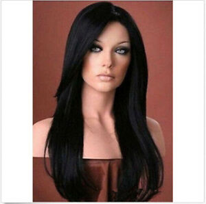 Fashion-Sexy-Women-Black-Cosplay-Straight-Hair-Full-Natural-Wigs-Synthetic-Cap