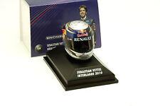 S. Vettel Red Bull GP Brasilien Formel 1 Weltmeister 2010 Helm 1:8 Minichamps