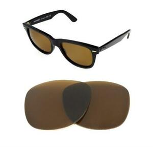 NEW-POLARIZED-REPLACEMENT-BRONZE-LENS-FIT-RAY-BAN-WAYFARER-2132-58mm-SUNGLASSE