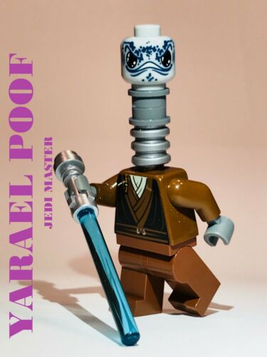 LEGO STAR WARS JEDI YARAEL POOF ALIEN 100/% LEGO CUSTOM JEDI MASTER CLONE WAR NEW