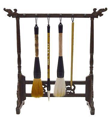 Asian Antiques Other Asian Antiques Competent Shodō Fude Caligrafía Herramienta Japonés Bambú Chino Pintar Pinceles Soporte