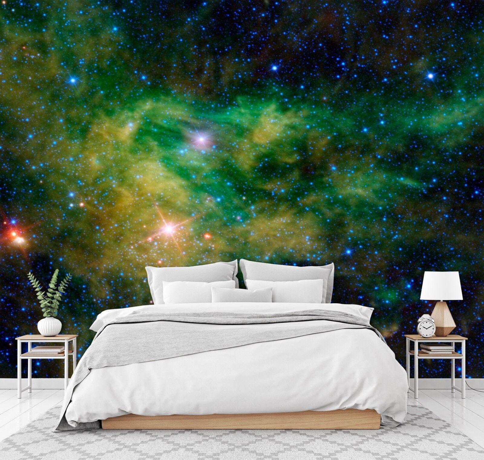 3D Grün Sterne Himmel 8 Tapete Wandgemälde Tapete Tapeten Bild Familie DE Lemon