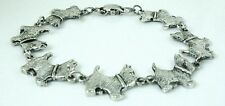 7 inch Cute Scottish Terrier Dog Bracelet antique silver plated 18 cm