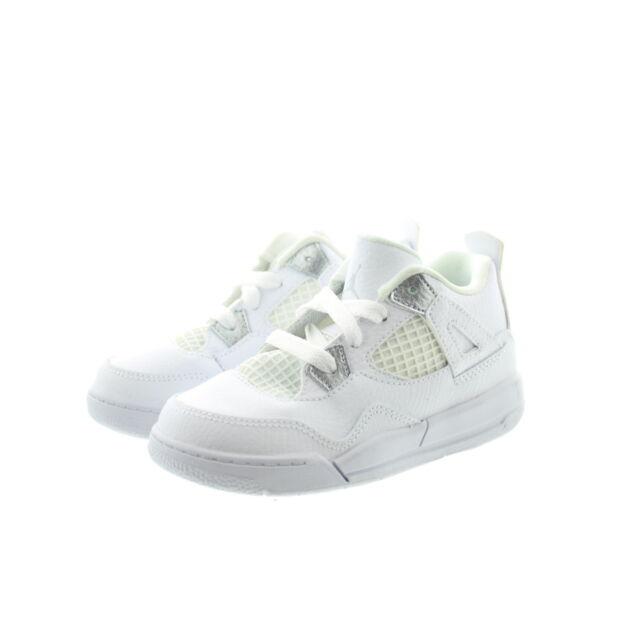 on sale 0b6fb 9f83f Nike 308500 Kids Youth Boys Girls Jordan Retro 4 Pure Money High Top  Sneakers