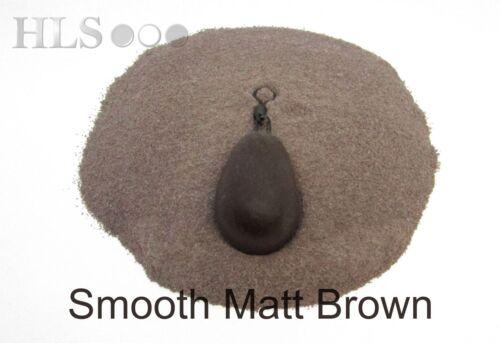 S-BRN SMOOTH MATT Brown Lead//Jig head coating powder plastic HLS tackle