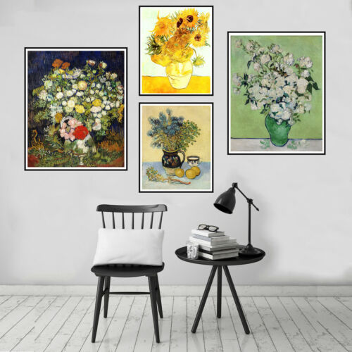 Vincent Van Gogh Folwer Canvas Oil Painting Print Poster Picture Wall Decor