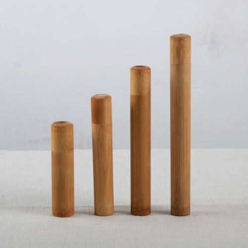 4 size bamboo tube tea box airtight small container spices storage jar with lid^