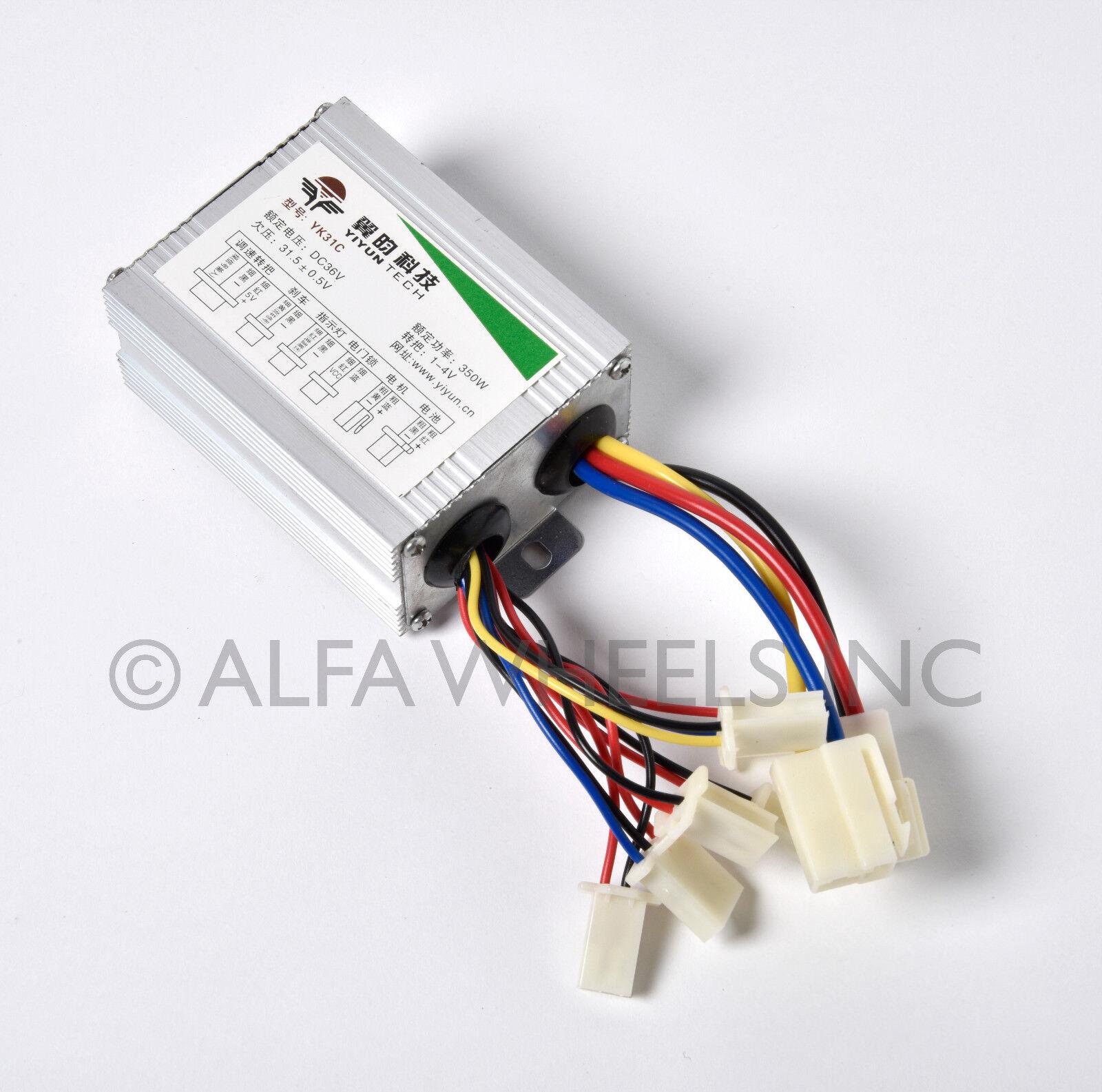 350W 36V DC electric motor Controller box f GoKart w DPDT reversing switch