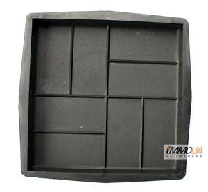 X Betonform X Gießform Terrassenplatte F Bodenplatte Ziegel - Betonpflaster 40x40