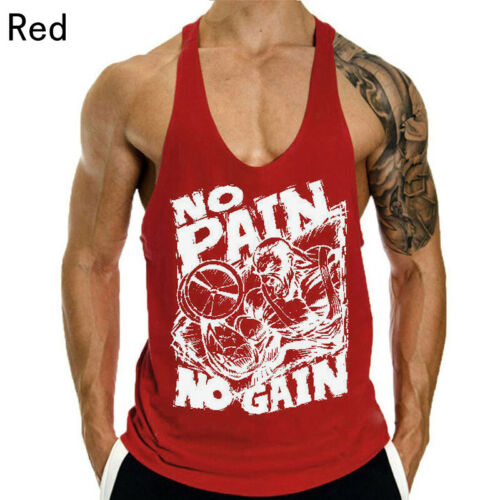 7Colors Men Gym Muscle Tee Bodybuilding Sleeveless T-Shirt Tank Top Fitness Vest