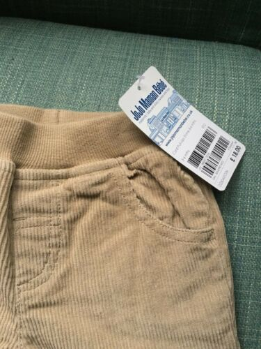 Boys Cord Pull-Up Trousers 3-6 Months JoJo Maman Bebe BNWT