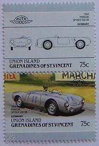 Image Is Loading 1954 PORSCHE SPYDER 550 06 Car Stamps Leaders