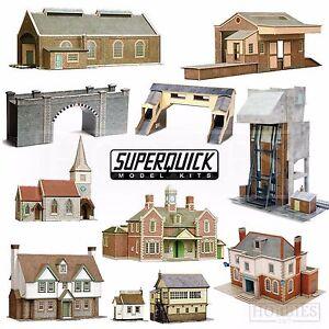 Détails Sur Superquick Model Building Card Kits 1 72 Scale Oo Ho Gauge Railways Series A B C