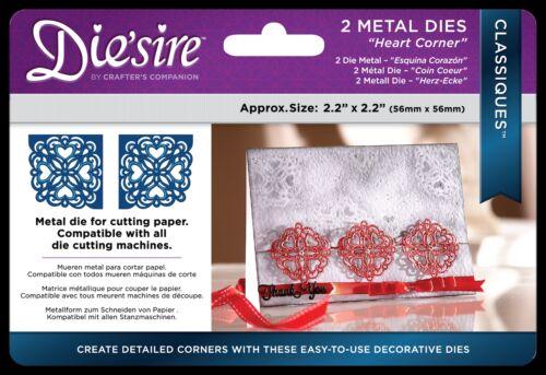 Metal Dies Crafters Companion Free UK P/&P Die/'sire Classiques Corner Dies