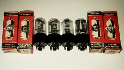 6NS7 RSD NOS 4pcs. (ECC32 / 6CC10)  Audio tubes-new from old stocks.