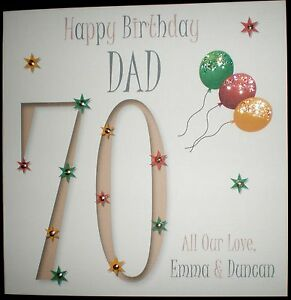 Image Is Loading PERSONALISED HANDMADE DAD 30TH 40TH 50TH 60TH 70TH