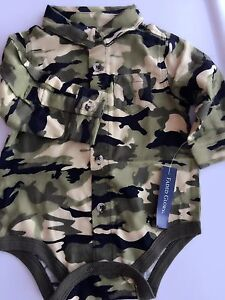 Girl-Boy-Kid-Baby-Army-Military-Party-Camouflage-Green-Camo-Romper-Bodysuit