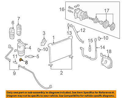 89040562 New A//C Clutch Cycling Pressure Switch OEM# 52476843