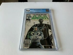PUNISHER LIMITED SERIES 3 CGC 9.0 WHITE PAGES NEWSSTAND EDITION MARVEL COMICS