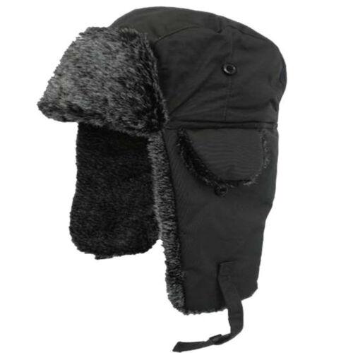Da Uomo Pelliccia Sintetica Impermeabile russo Trapper Hat Caldi Invernali Sci Cappello Taglia unica
