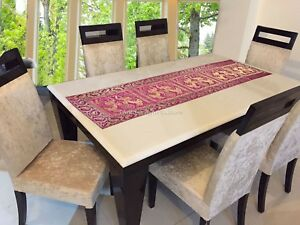 Details About Table Runner Buffet Dinning Kitchen Centerpiece Indian Brocade Table Cloth Decor