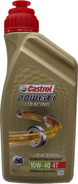 # 1 Liter Castrol Power 1 RACING 10W40 4T Motoröl 10W-40 VOLLSYNTHETISCH JASO ÖL