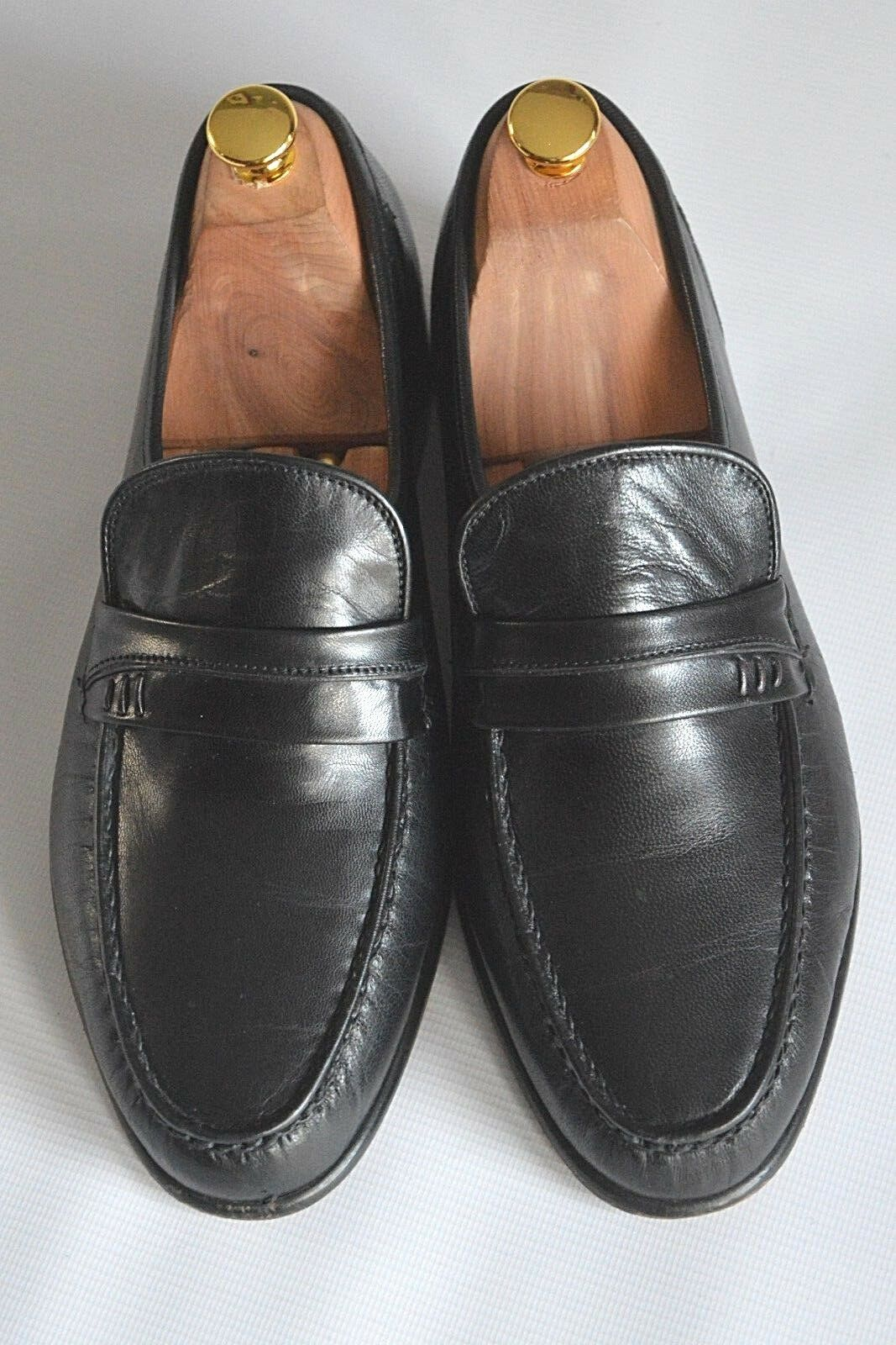 GRENSON FEATHERMASTER ARIZONA 9654 BLACK LEATHER MOCCASINS - UK 7  EUR 41  USA 8