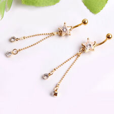 Charm Starfish Piercing Body Jewelry Belly Button Ring Navel Gold Plated Steel