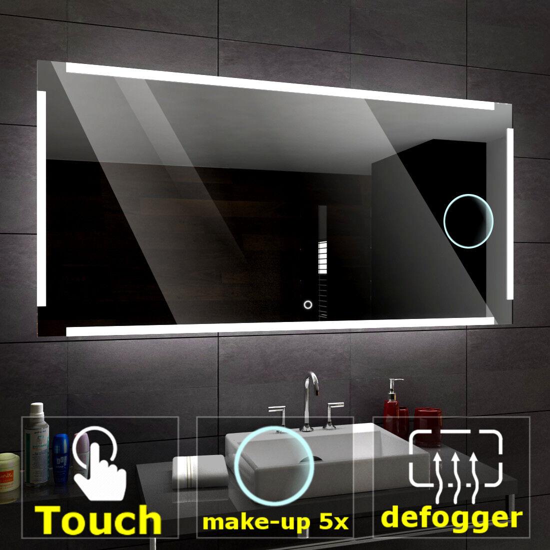 Ryga éclairé del Miroir salle de bain LED interrupteurs maquillage anti buée