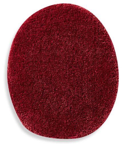 Wine Red Toilet Lid Cover Elongated Soft Top Non Slip Plush Nylon Washable Bath
