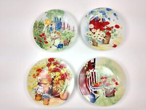 I-Godinger-Co-Spring-Garden-Porcelain-Dessert-8-Plates-set-of-4-in-Orig-Box
