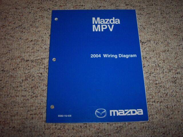 2004 Mazda Mpv Van Factory Electrical Wiring Diagram