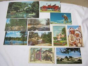Vintage Postcard Lot of 11 Bennett Studio Chief Old Auto Texas Wi T*
