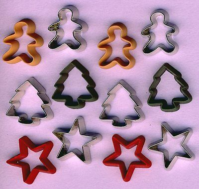 Cookie Cutters Christmas Red Green Silver Gingerbread Star Tree Embellishments 787117512038 Ebay