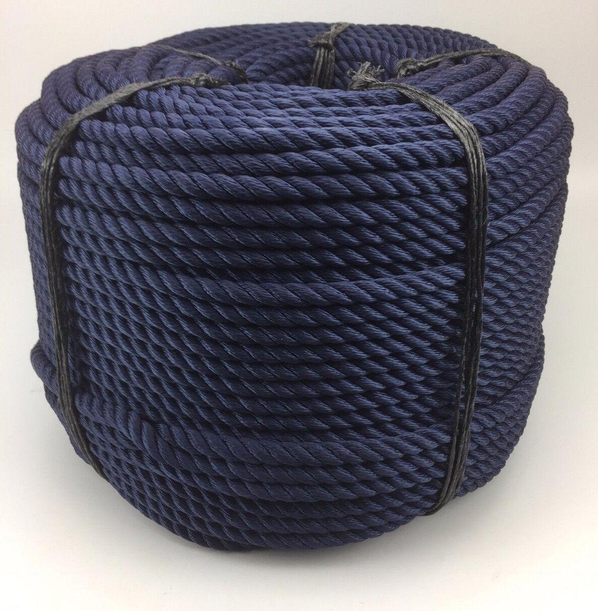 16MM FILO MORBIDO corda x 220 metri serpentina, blu scuro, YACHT, vela, barche,
