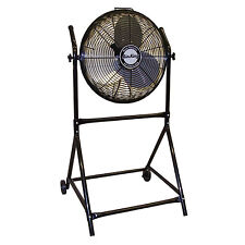 """Air King 18"""" 1/6 HP 3-Speed Adjustable Height Floor Fan with Roll-About Stand"""