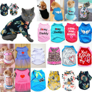 Pet Dog Cat Clothes Summer Puppy T Shirt Clothing Small Dogs Chihuahua Vest ZS