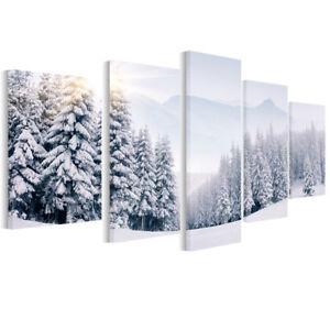 Leinwand Bilder Wald im Winter - Foto, Bild, Wandbilder fürs ...
