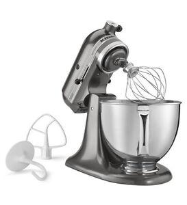KitchenAid Artisan Series 5 Quart Tilt Head KSM150PSQG 325W Stand Mixer    Liquid Graphite