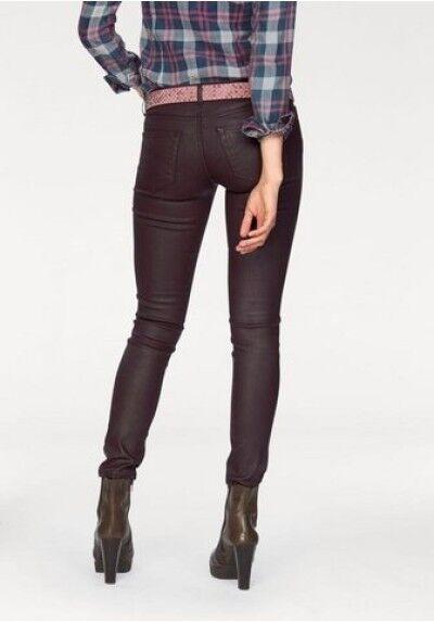 LTB Jeans MINA w29 NUOVO NUOVO NUOVO DONNA SKINNY STRETCH DENIM PANTALONI SLIM FIT BORDEAUX TUBO 3ab081