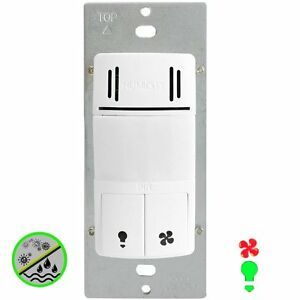 2in1 Humidity Sensor Fan Switch Pir Light Motion Wall