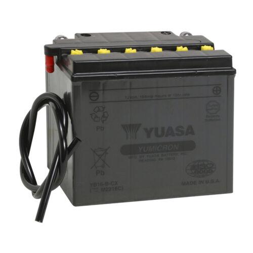 Batterie Moto Yuasa YB16-B-CX 12V 19AH 255A 175X100X155MM ACIDE OFFERT