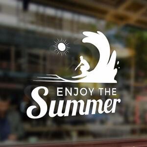 ENJOY-THE-Summer-Surfing-Surfboard-Vinyl-Car-Stickers-DIY-Decals-Waterproof